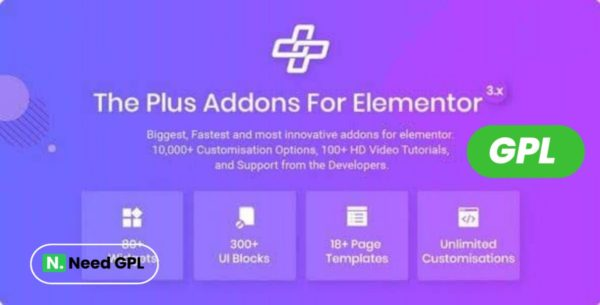 The Plus Addons for Elementor Page Builder GPL License